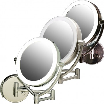 Ovente Wall-Mounted Vanity Mirror with Dimmable Lights 7.5 Inches (MLW75 Series)