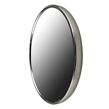 Ovente Round Mirror, 3 Inches, 10× Magnification, Back Magnet, Brushed Nickel (M100BR10x)