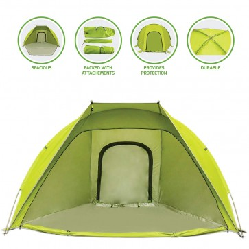 Ovente 2-Person Outdoor Dome Tent, Green (TB0174G)