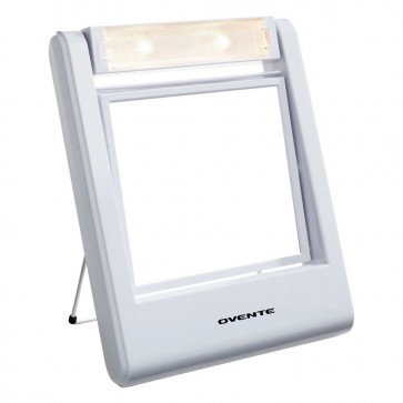 Ovente Small Lighted Vanity Magnifying Mirror White (MLT22W)