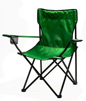 Ovente Foldable Camping Chair with Steel Frame and 600D Oxford Polyester, Durable Water, Dirt and Stain Resistant and Hold up to 264 Pounds, Mesh Cup Holder and Free Bag Inculded, Green (CHR001G)