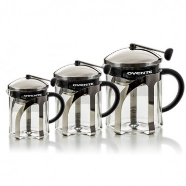 Ovente Glass Teapot with Stainless Steel Retractable Infuser