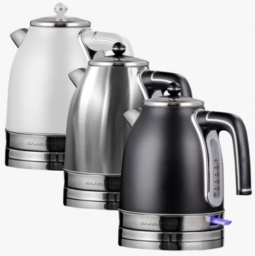 vente Electric Kettle, 1.7L, Auto Shut-Off, 1500W, Matte Stainless Steel & BPA-Free, Removable Anti-Scale Filter, Centered Water Gauge