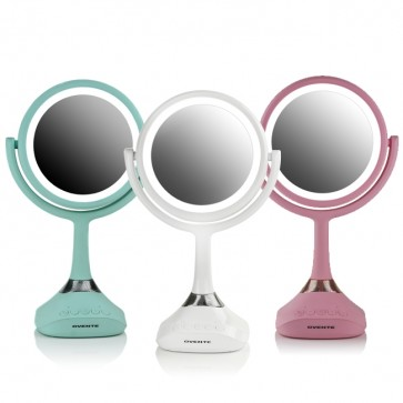 Ovente Tabletop Vanity Mirror with Speaker 6 Inches