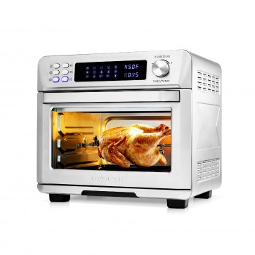 Ovente Multi-Function Air Fryer Rotisserie Oven With Digital Screen (OFD4025BR)