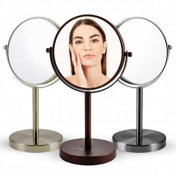 Ovente Tabletop Makeup Mirror, 6 Inch, Dual-Sided 1x/7x Magnification (MNLT60 Series)
