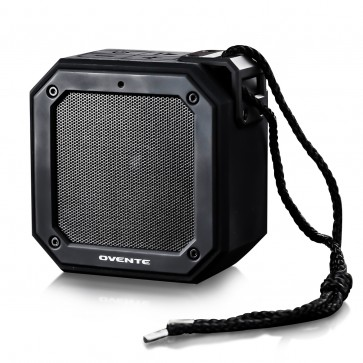 Ovente Wireless Speaker, 2000 mAh, TWS Pairing, IPX6 Waterproof, ≥20 Hours of Playtime, Black (ZA1200B)