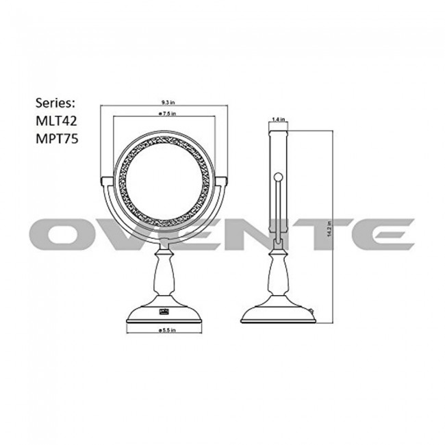 tabletop vanity mirror mlt42co 7 5 inches led