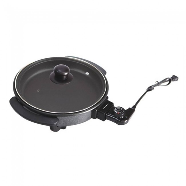 Electric Frying Pan ~ Ovente round electric frying pan skillet granite with