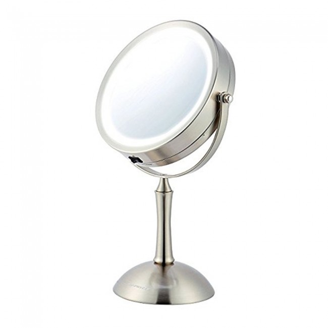 Ovente MDT70BR 7.0 inch Battery Operated LED Lighted Tabletop Vanity Makeup  Mirror, 1x/8x - Tabletop Vanity Mirror MDT70BR 7.0 Inches LED Ovente US