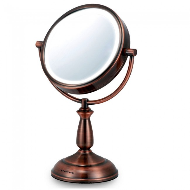 Ovente Tabletop Vanity Mirror With Lights 7.5 Inches (MLT42CO)