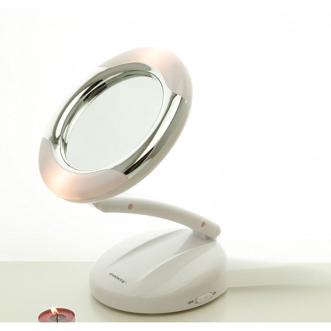 Small Vanity Magnifying Mirror 7 5 Inches Mlt23w Ovente Us