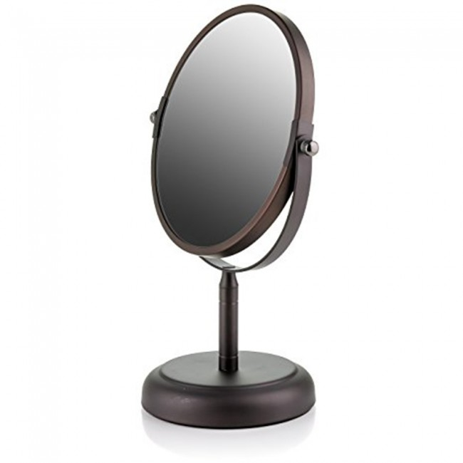 Ovente Tabletop Vanity Mirror Antique Bronze Mnldt70abz1x5x