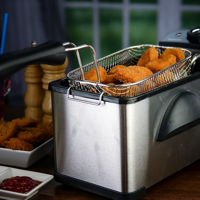 Ovente Food Warmer ~ Stainless steel deep fryer liters fdm br ovente