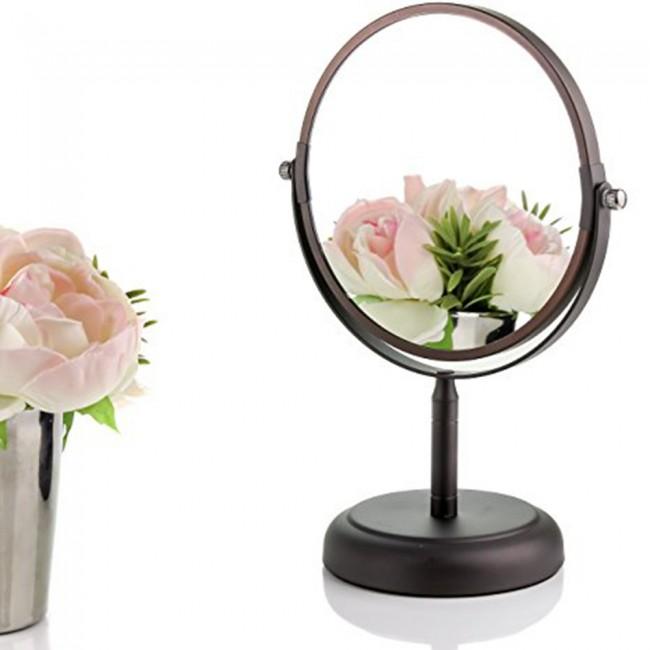 Ovente Tabletop Vanity Mirror Antique Bronze Mnldt70abz1x5x
