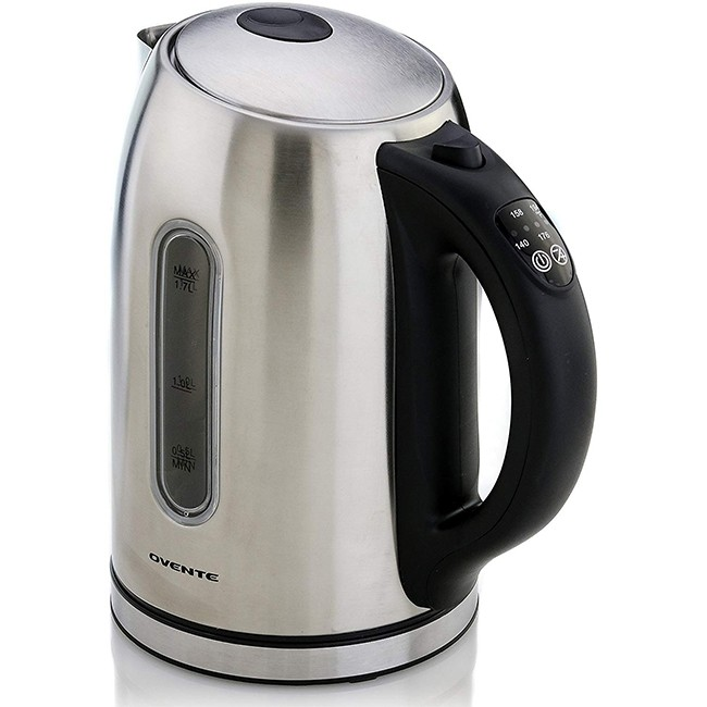 Electric Kettle Stainless Steel 1 7l Ks88 Ovente Us