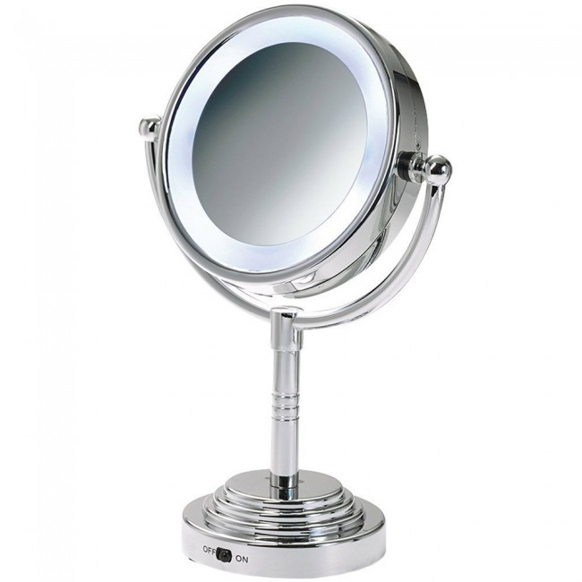 Tabletop Vanity Mirror Light Switch MLT28C 6.7 Inches | Ovente US