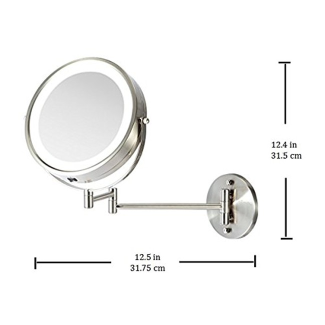 Wall Mounted Vanity Mirror 7 Inches Mfw70 Ovente Us