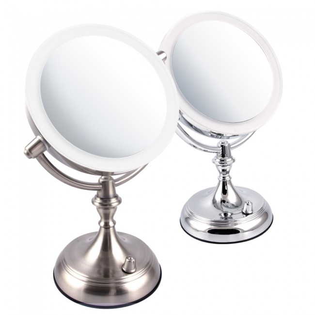 Ovente Tabletop Vanity Mirror With Dimmable Lights 7.5 Inches (MGT75 Series)