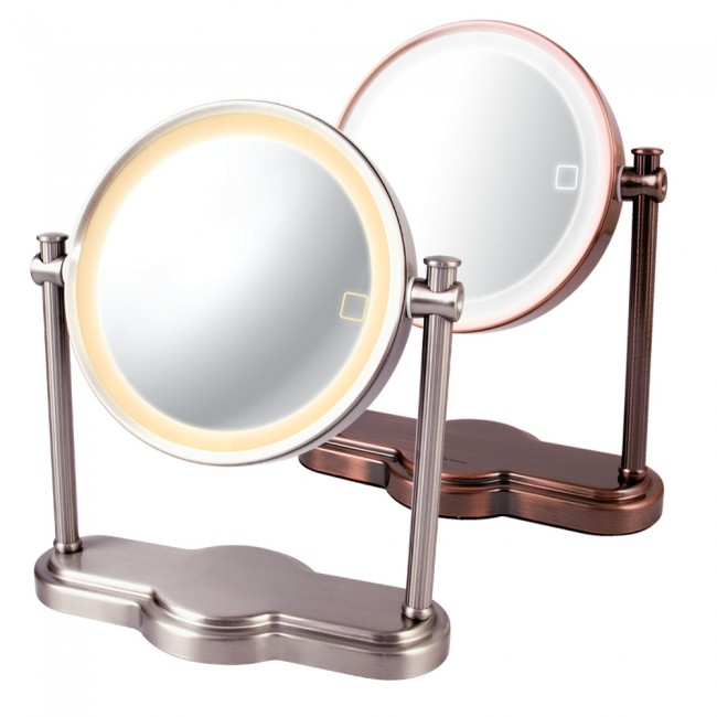 Ovente LED Lighted Makeup Mirror, SmartTouch 3 Tone Lighting (Daylight,  Cool,
