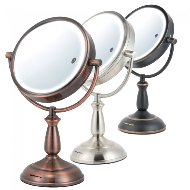 Ovente Tabletop Vanity Mirror Smart Touch 3-Tone 8 5 Inches (MPT85 Series)