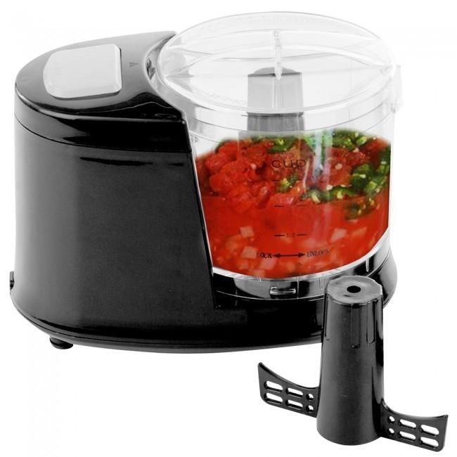 Ovente Mini Food Processor 1 5 Cup Black Pf1006b