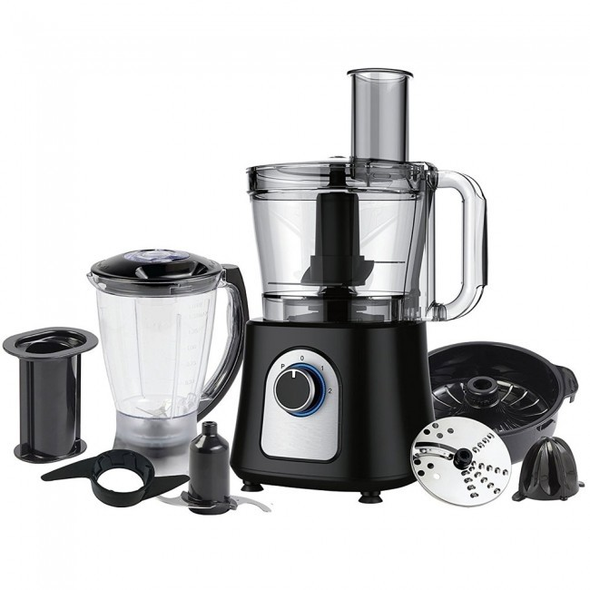 Food Processor With Blender 12 Cup Black Pf7007b Ovente Us