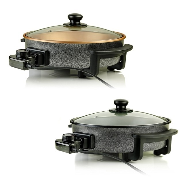 Ovente Electric Skillet With Non Stick Aluminum Body