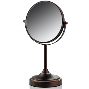 Ovente Tabletop Makeup Mirror, 7 Inch, Dual-Sided 1x/7x Magnification (MNLCT70 Series)