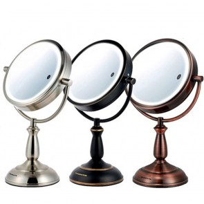 Ovente Tabletop Vanity Mirror Smart Touch 3-Tone 7.5 Inches (MPT75 Series)