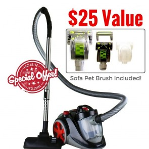 Ovente Bagless Canister Vacuum Cleaner (ST2010)