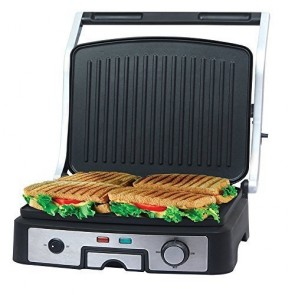 Ovente 6-Slice Multi-Purpose Electric Panini Grill (GP1861BR)