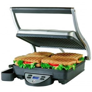Ovente Panini Press Grill Sandwich Maker (GP1000BR)