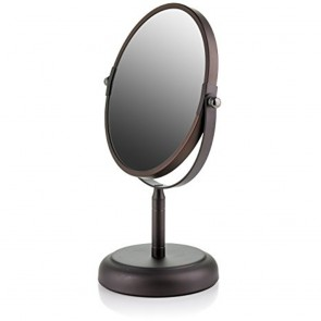 Ovente Tabletop Vanity Mirror, Antique Bronze (MNLDT70ABZ1x5x)