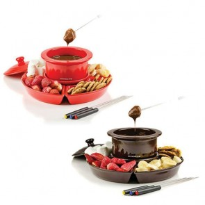 Electric Chocolate or Cheese Fondue Melting Pot and Warmer Set