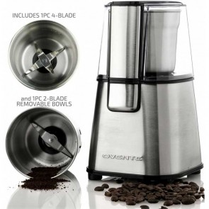Ovente Electric Coffee Grinder Set