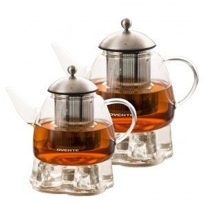 Ovente Glass Teapot, 44-61 oz