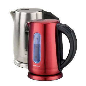 Ovente Stainless Steel Electric Kettle with Touch Screen Control Panel, 1.7 Liter (KS58 Series)