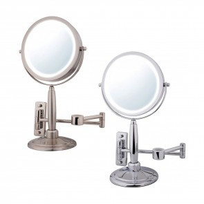 Ovente Three In One Vanity  Makeup Mirror with 3 Tone Led Light Option, 2.7 Pound (MFM70 Series)