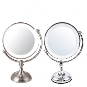 Ovente Tabletop Vanity Mirror with Dimmable Lights 9.5 Inches (MGT95)