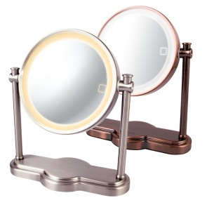 Ovente Tabletop Vanity Mirror with Smart Touch 3-Tone Light 8 Inches (MHT80 Series)