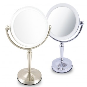 Ovente Tabletop Vanity Mirror with Dimmable Lights 7.5 Inches (MKT75 Series)