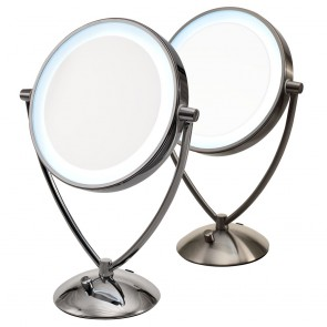 Ovente Tabletop Vanity Mirror with Dimmable Lights 9.5 Inches (MLT45 Series)