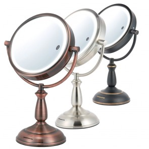 Ovente Tabletop Vanity Mirror Smart Touch 3-Tone 8.5 Inches (MPT85 Series)