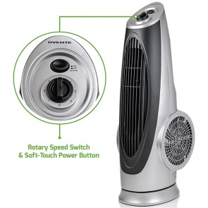Cool-Breeze Tower Fan with Oscillating Function