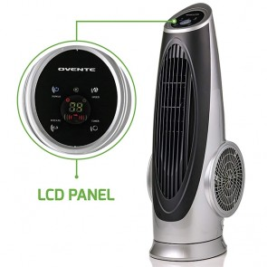 Cool Breeze Tower Fan with Remote Control and LCD Panel