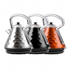 Ovente 1.7L Cleo Collection Electric Kettle with Boil-Dry Protection and Auto Shut-Off (KS755 Series)