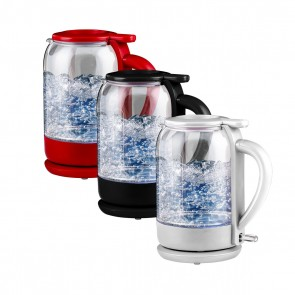 Ovente Electric Glass Hot Water Kettle 1.5 Liter with ProntoFill Technology The Easy Fill Solution (KG516 Series)