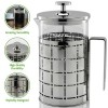 Ovente French Press Cafetière Coffee and Tea Maker, High-Grade Stainless Steel, 27 oz (FSS27P)
