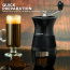 Ovente Burr Manual Coffee Grinder 12 Gram Capacity, Stainless Steel Material with Compact and Portable Features, Perfect Grinding for Easy Fresh Espresso, Dry Herbs, Black (CGM130B)